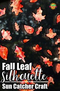 Fall Leaf Silhouette Sun Catcher Pin Image