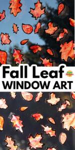 Fall Leaf Silhouette Window Art Long Pin