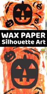 Long Pin Pumpkin Silhouttes on wax paper