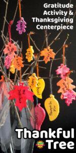 Thanksgiving Thankfulness Tree for Kids Long Pin