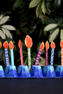 Egg Carton Menorah Craft