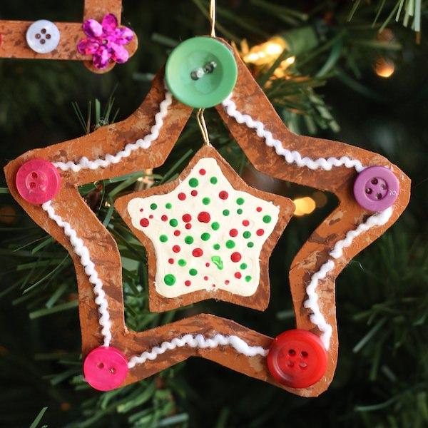 gingerbread star ornament kids craft