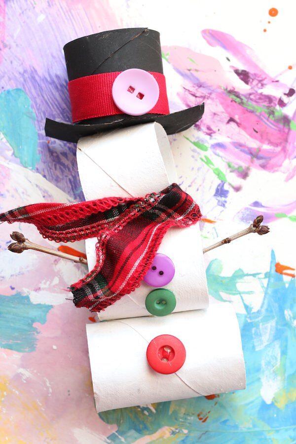 tp roll snowman dressed