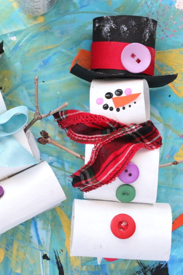 stacked tp roll snowman