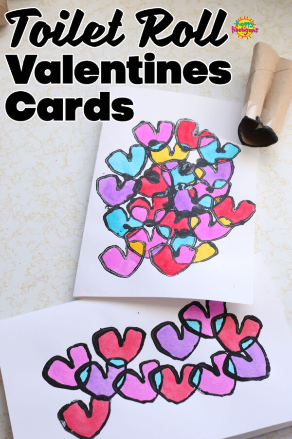 overlapping hearts Valentines Card Craft for Kids