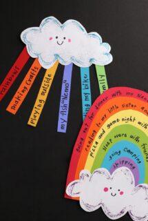 rainbow happiness craft pin image